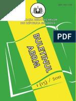 Buletinul ABRM Nr 2011-1