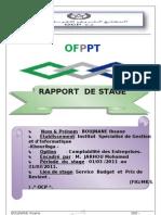 Page De Garde Rapport De Stage 1