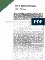 What is Communicative -J Harmer