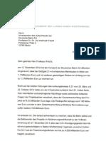 Brief von Herrn Kretschmann an Herrn Felcht/DB Quelle