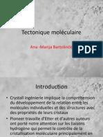 La chimie, la tectonique moléculaire, blocs de construction moléculaire, cristaux