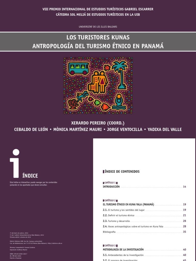 LOS TURISTORES KUNAS ANTROPOLOGÍA DEL TURISMO ÉTNICO EN PANAMÁ