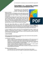 Public Private Partnership Schemes