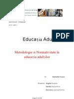 Metodologie si Normativitate în educația adulțilorm