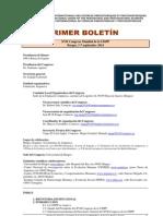 Primer Boletín XVII Congreso Mundial de la UISPP