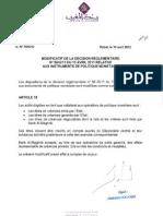 Modificatif+de+La+Dcision+Rglementaire+n86+Relative+Aux+Oprations+de+Politique+Montaire