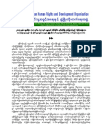 Paper to present at the Arakan National Workshop by AHRDO