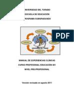 MANUAL DE EXPERIENCIAS CLINICAS - EDUC.