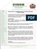 CIDOB RATIFICA EXPULSION DE JAIME GONZALES HUMPIRE