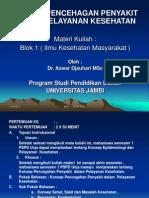 kONsep Pencegahan Penyakit dalam Pelayanan Kesehatan