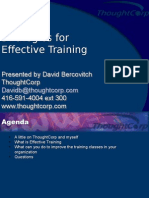 Effective Training Strategies