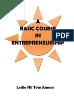A Basic Course in Entrepreneurship