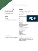 perfil profesionales de laboratorio