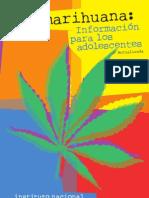 folleto marihuana para jovenes