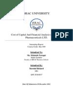 Cost of Capital & Profitability Analysis Of Beximco Pharmaceuticals Ltd.