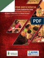 ANEMIA POR DEFICIENCIA DE HIERRO Y SUPLEMENTACIÓN CON MULTIMICRONUTRIENTES
