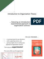 Inleiding in de Organisatie theorieen