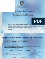 HigherEducationFinancing Kosovo