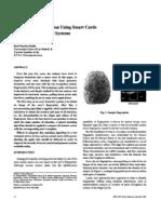 Fingerprint verification Smart cards, Access control