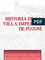 HISTORIA DE LA VILLA IMPERIAL DE POTOSI