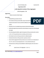 Experiment_02_To Determine the Specific Gravity of Fine Aggregate