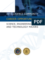 Intelligence Community Career Opportunities - Science, Engineering, Math and Technology Majors