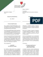 Dreisprachigkeitszulage - Beschlussantrag der BürgerUnion