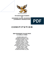Associated Students of Grossmont College, Inc. Constitution (As of September 22, 2009)