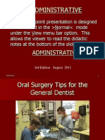 Dr. Partridge Oral Surgery Hints for the General Den