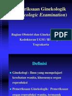 pemeriksaan ginekologik