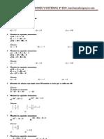 Ejercicios de inecuaciones y sistemas con soluciones