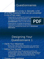 Using Questionnaires 2