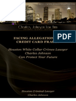 Dealing with Allegations of Credit Card Fraud?  Credit Card Fraud Lawyer Charles Johnson Can Protect Your Life