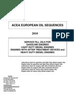 2010 ACEA Oil Sequences
