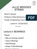 Design of elastomeric bearings for steel bridges