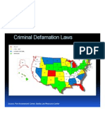 State Criminal Defamation Laws