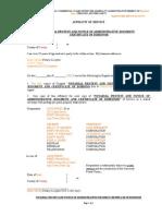 affidavit of service -mortgage