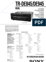 Sony STRDE945 Service Manual