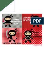 Ninja Valentine Printable