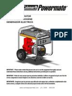 Coleman Powermate 5500 Generator manual