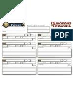 Ficha de Poderes D&D 4,0