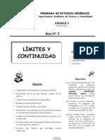 Guía N° 2_Límites y Continuidad