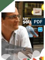 Partido Popular Vasco - Programa 2009