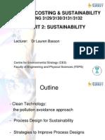 Process sustainability