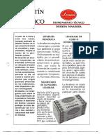 Levapan Boletin Tecnico 001 - La Levadura