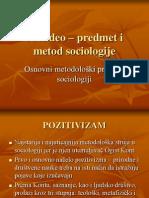 Osnovni metodološki pravci u sociologiji