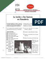 Levapan Boletin Tecnico 009 - La Leche y los Huevos en Panaderia