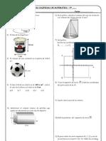 Practica calificada de geometría analítica y sólidos geometricos