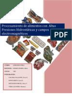 Altas presiones Hidrostaticas en Alimentos