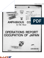 Appendix 3 to annex Charlie to Operations Report, Occupation of Japan, V Marine Amphibious Corps, THE JAPANESE PLAN FOR THE DEFENSE OF KYUSHU